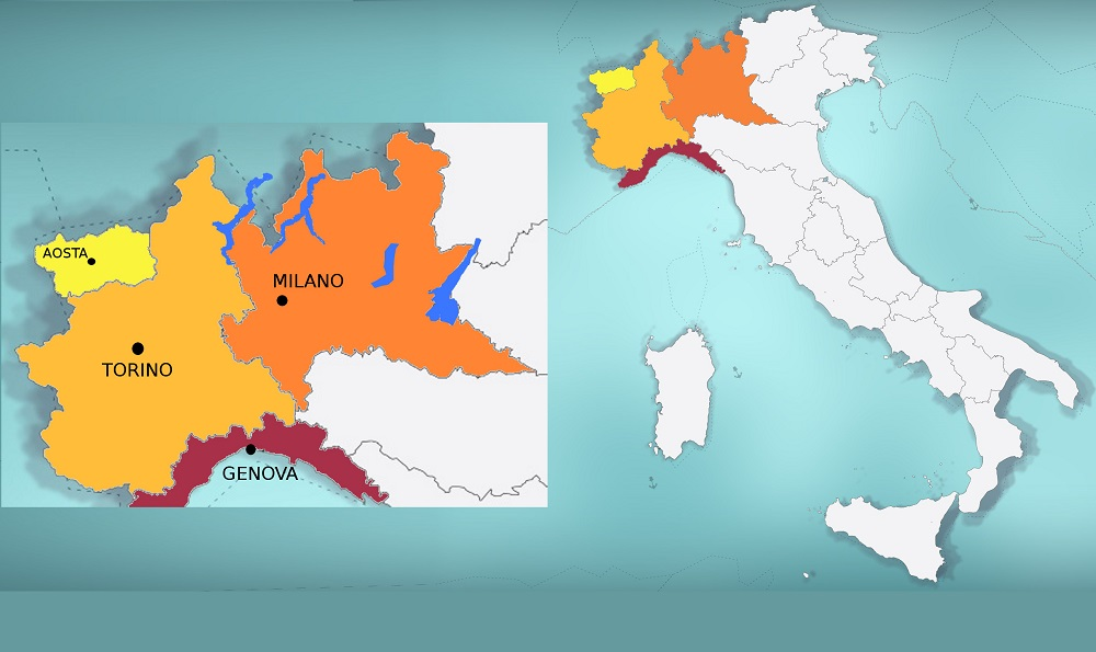 Map Of North West Italy.Bicycle Tours And Cycling Holidays In Piedmont And Northwest Italy